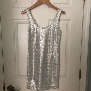White Sequin Papaya Dress